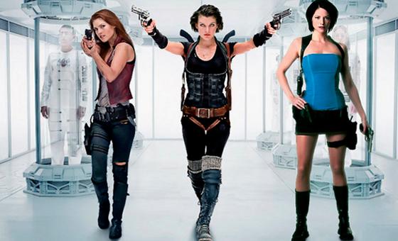 Claire Redfield, Alice and Jill Valentine