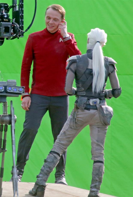 Star Trek Beyond Scotty and Alien Sofia Boutella