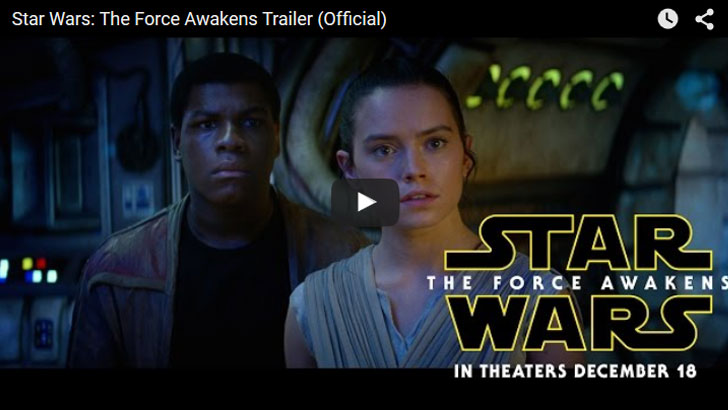 Star Wars: The Force Awakens Trailer Official - Monday Night Football