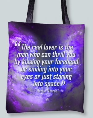 Marilyn Monroe Lover Famous Quote Tote Bag