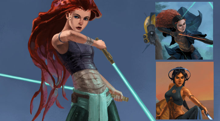 Disney Princesses Reimagined as Jedi Warriors