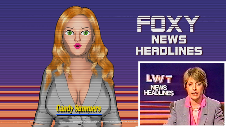 A Retro TV News Broadcast Hackers Conspiracy Visual Novel