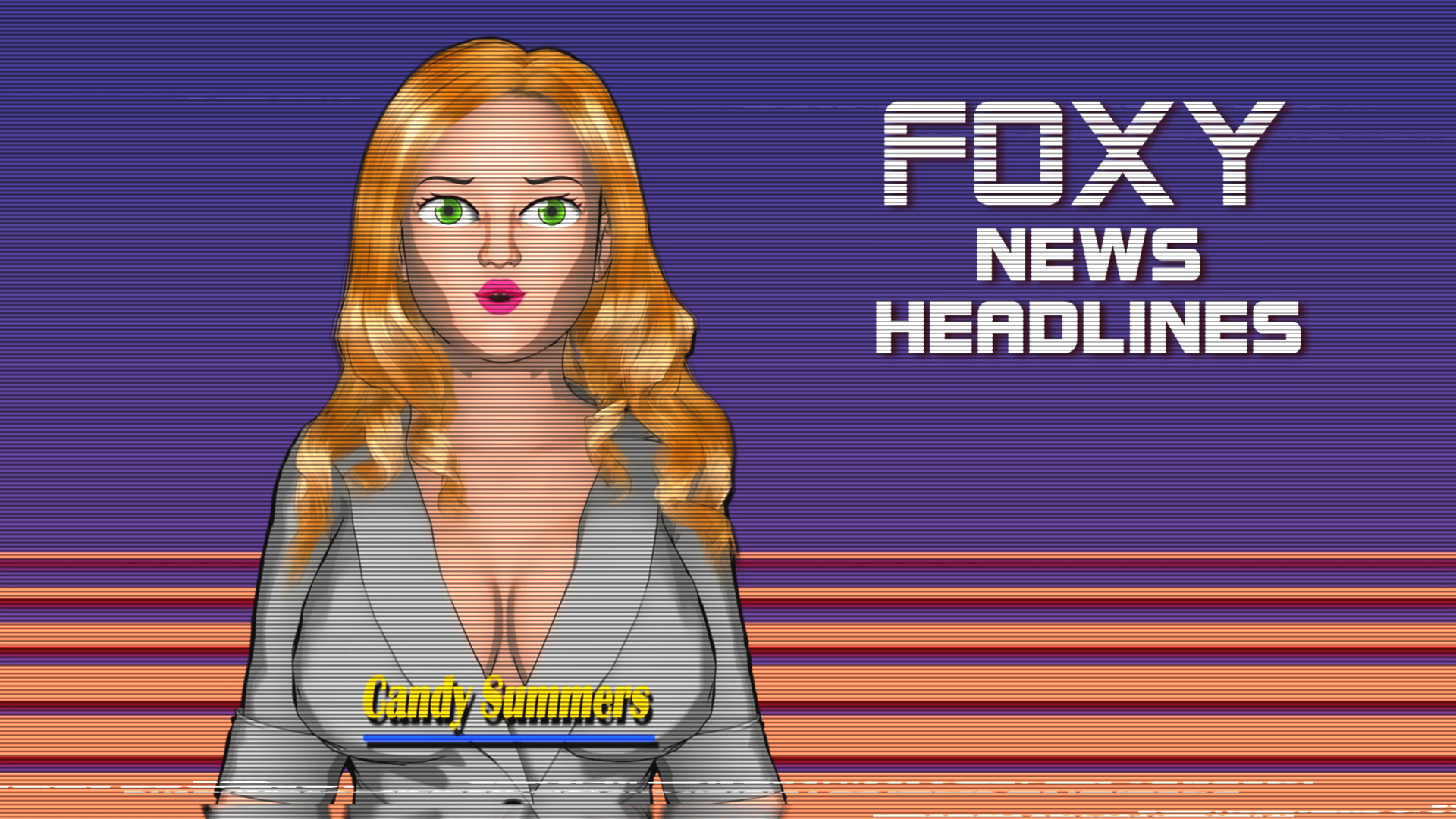 Retro Futuristic TV News Broadcast - FOXY News