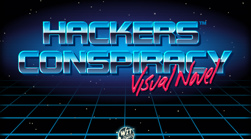 Hackers Conspiracy Retro Chrome Logo