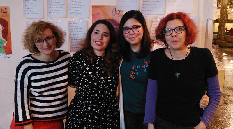 Diana P. Morales, Carmen Romero Lorenzo, Elena Lozano y Concha Perea