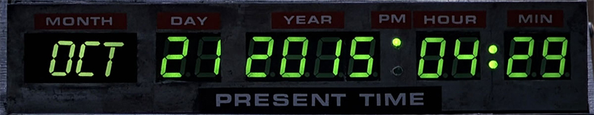 Back to the Future Day October 21, 2015 #BTTF2015