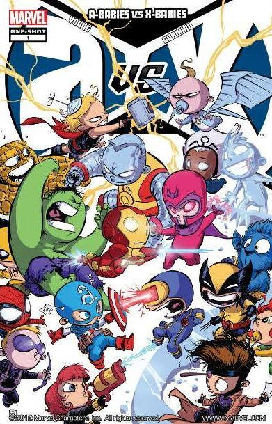 A-Babies vs X-Babies by Skottie Young Comic Cover
