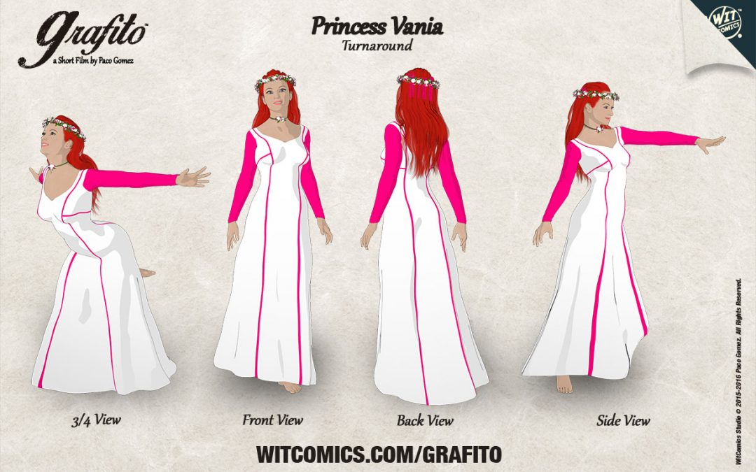 Princess Vania: Character Sheet Turnaround with DAZ Studio