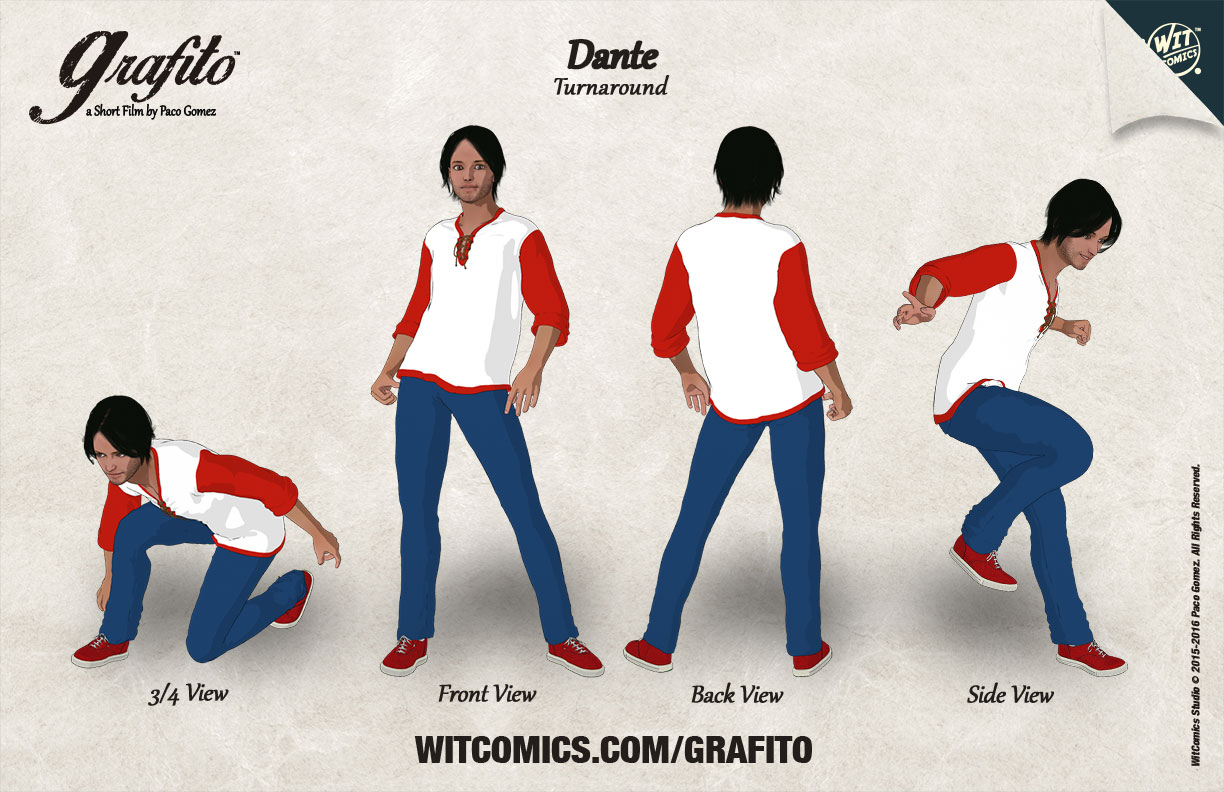 Dante 3D Character Sheet Turnaround with DAZ Studio