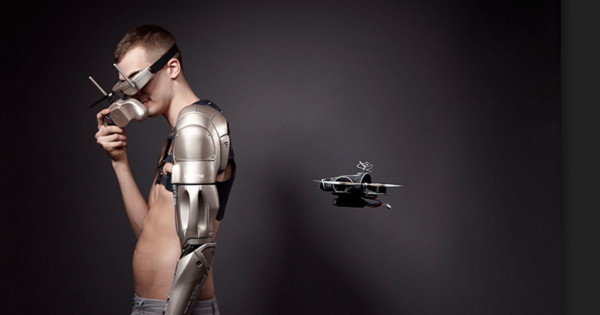 Gamer gets Bionic Arm drone